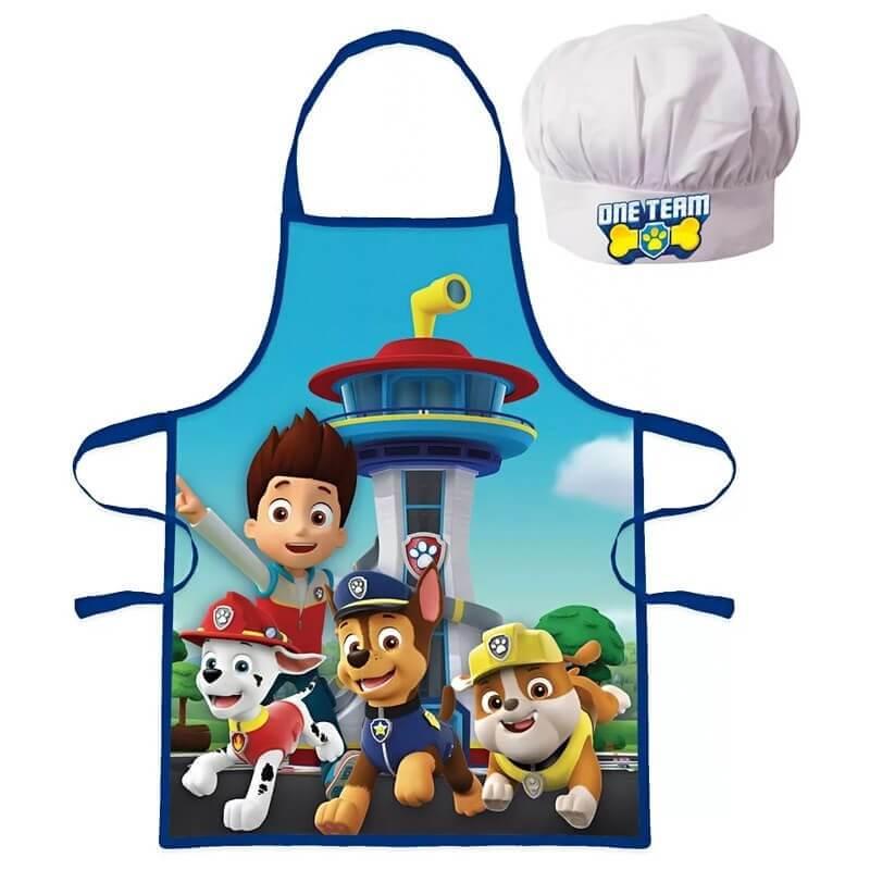 Predpasnik in kuharska kapa Tačke na patrulji za dečke