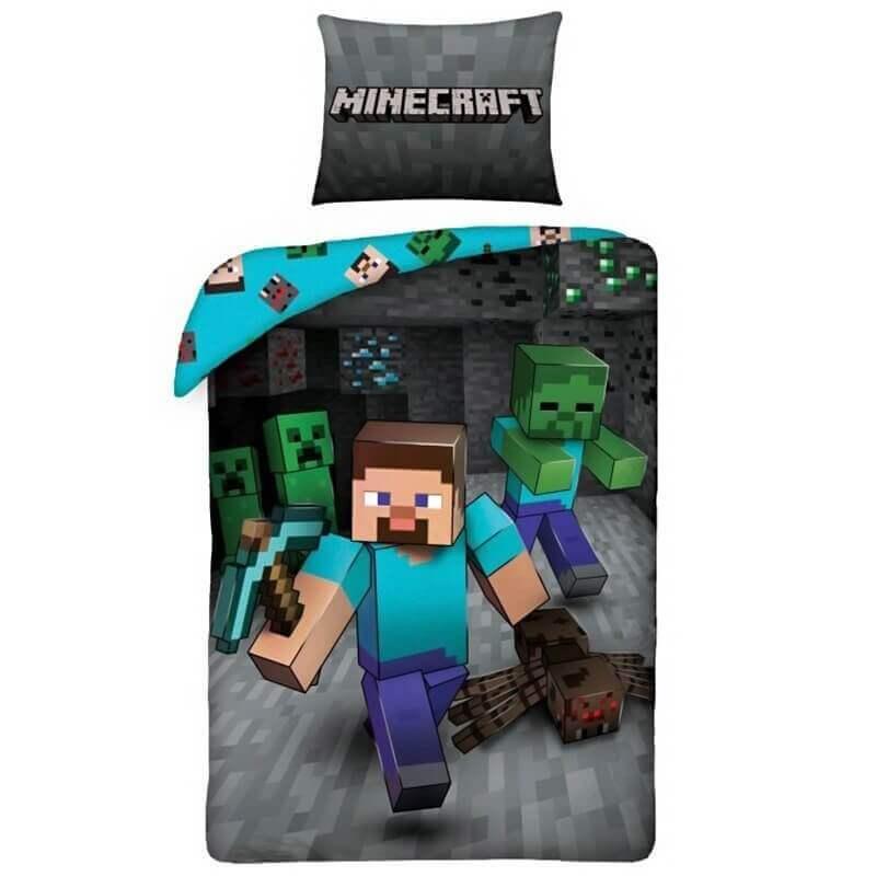 Bombažna Posteljnina Z Motivom Minecraft
