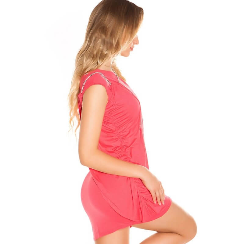 Oprijeta oblekca Chain v pink barvi