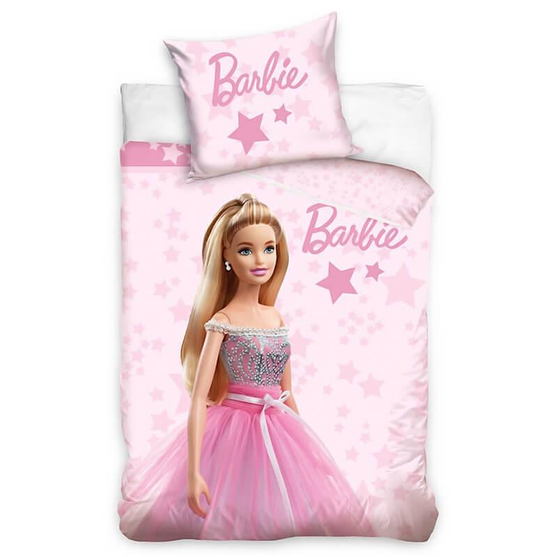 Posteljnina Barbie v roza barvi